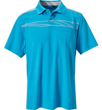 Men's Tour Select Assymetical Print Short Sleeve Polo