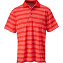 Snake Eyes Men's Dry-18 Allover Stripe Short Sleeve Polo