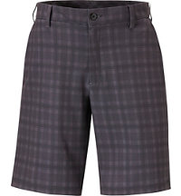 Men's Flat Front Plaid Shorts