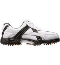 Men's Closeout Contour Series Spiked Golf Shoes - White/Black(FJ#54005)