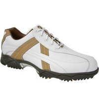 Men's Closeout Contour Series Golf Shoes - White/Tan (FJ#54118)