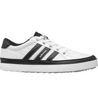 Men's Adicross IV Spikeless Golf Shoes - White/Core Black/Silver Metallic
