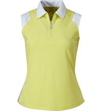 Women's Zip Sleeveless Polo