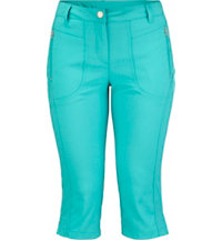 Women's Zip Pocket Capris