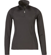 Women's Zip Long Sleeve Mock