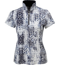 Women's June Printed Short Sleeve Mock