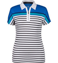 Women's Aileen Stripe Short Sleeve Polo
