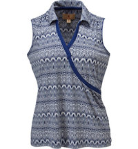 Women's Cornelia Printed Sleeveless Polo