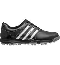 Men's Tour 360 X Golf Shoes - Black/Running White/Dark Silver Metallic