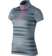 Women's Swing Stripe Short Sleeve Mock