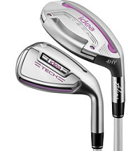 Lady New Idea Tech 4-6H, 7-PW,SW Combo Iron Set with Graphite Shafts