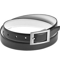 Women's Center Bar Buckle Reversible Belt