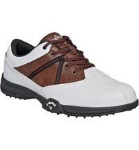Men's Chev Comfort Golf Shoe - White/Brown/Black