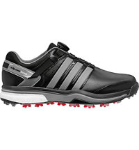 Men's Adipower BOA Boost Golf Shoes - Core Black/Iron Metallic/Core Black