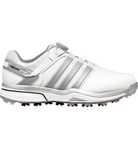 Men's Adipower BOA Boost Golf Shoes - Running White/Dark Silver Metallic/Running White