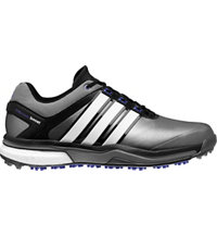 Men's Adipower Boost Golf Shoes - Dark Silver Metallic/Running White/Night Flash