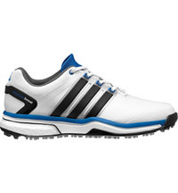 Men's Adipower Boost Golf Shoes - Running White/Core Black/Bahia Blue