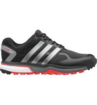 Men's Adipower Sport Boost Golf Shoes - Black/Iron Metallic/Dark Orange