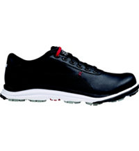 Men's BioDrive Leather Spikeless Golf Shoes - Black/White/Tango Red