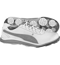 Men's BioDrive Leather Spikeless Golf Shoes - White/Limestone Grey