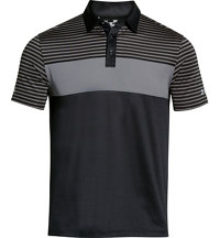 Men's coldblack Major Stripe Short Sleeve Polo