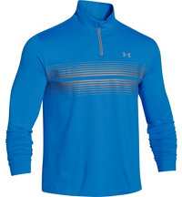 Men's Coldgear Striped Infrared Heartbeat Quarter-Zip Pullover