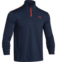 Men's Coldgear Solid Infrared Heartbeat Quarter-Zip Pullover