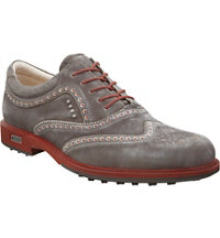 Men's Tour Hybrid Wingtip Spikeless Golf Shoes - Dark Clay/Orange