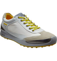 Men's BIOM Hybrid Textile Spikeless Golf Shoes - White/Buttercup
