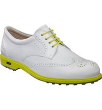Women's Classic Hybrid Spikeless Golf Shoes - White/Sulphur