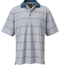 Men's Nailhead Jacquard Stripe Short Sleeve Polo