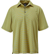 Men's Stretch Lisle Feeder Stripe Short Sleeve Polo