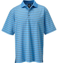 Men's Stretch Lisle Stripe Short Sleeve Polo