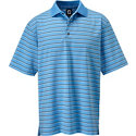 FootJoy Men's Stretch Lisle Stripe Short Sleeve Polo