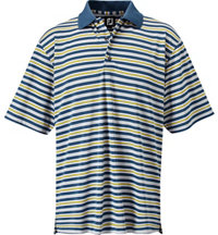 Men's Stretch Pique Multi Stripe Short Sleeve Polo