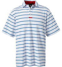 Men's Stretch Pique Stripe Short Sleeve Polo