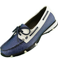 Women's Marina Spikeless Shoe White/Ocean Blue
