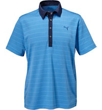 Men's Herring Bone Stripe Short Sleeve Polo