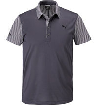 Men's LUX Stripe Mix Short Sleeve Polo