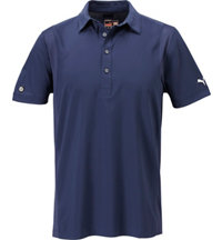 Men's Mesh Panel Short Sleeve Polo