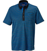 Men's Stripe Pocket Short Sleeve Polo