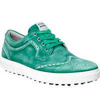 Men's Casual Hybrid Wingtip Golf Shoes - Lawn Green