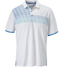 Men's ClimaChill Chest Stripe Short Sleeve Polo