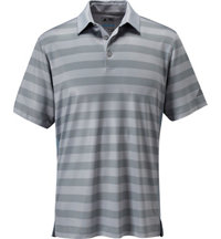Men's Birdseye Graphic Stripe Short Sleeve Polo