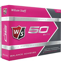 Fifty Elite Pink Golf Balls