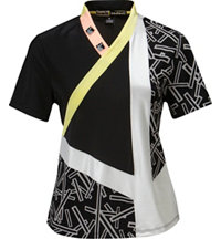 Women's Mixed Graphic Short Sleeve Polo