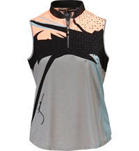 Women's Graphic Print Sleeveless Polo