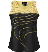 Women's Swirl Print Sleeveless Polo