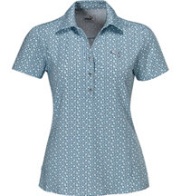 Women's Snap Print Short Sleeve Polo