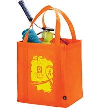 Logo PolyPro Non-Woven Big Grocery Tote